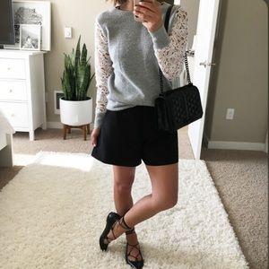Halogen Lace Detail Crewneck Sweater NWOT